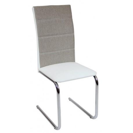 Krzesło DC2-006 biały+materiał (furnitex)