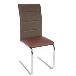 Krzesło DC2-006 brąz+materiał (furnitex)