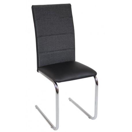 Krzesło DC2-006 czarny+materiał (furnitex)