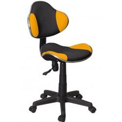 Fotel Obrotowy QZY-G2B pomarańczowy (furnitex)