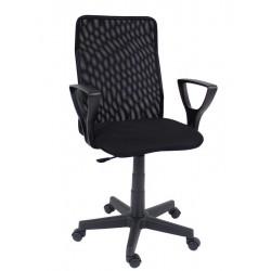 Fotel obrotowy QZY-F01 czarny (Furnitex)
