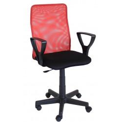 Fotel obrotowy QZY-F01 czerwony (Furnitex)