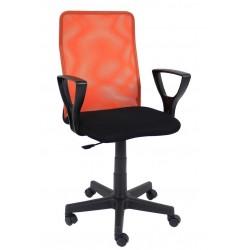 Fotel obrotowy QZY-F01 pomarańczowy (Furnitex)